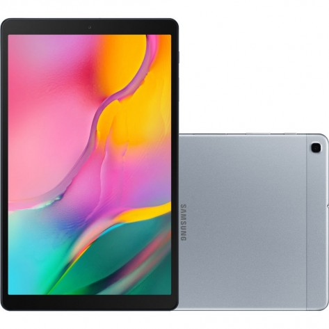 Tablet Samsung Galaxy Tab A SM-T515 - Tela 10.1'' - 32GB/2GB - Octa Core 1.6GHz - Câmera 8.0MP - 4G - Prata