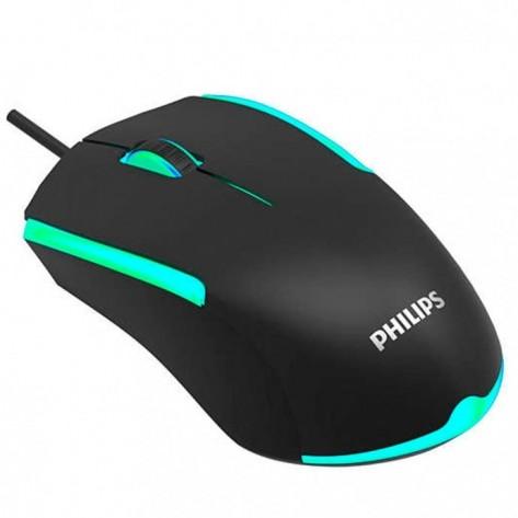 Mouse com fio Gamer Philips G314 SPK9314/00 - Preto - 1200 dpi - USB