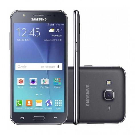 """Smartphone Samsung Galaxy J5 Duos SM-J500M/DS - Desbloqueado Tela 5"""" 4G Dual Chip Android 5.1 - Preto"""