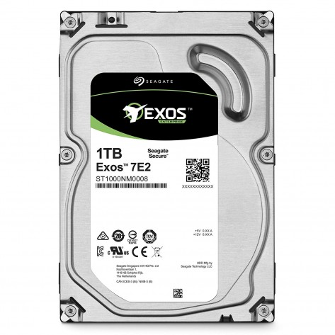 HD 3.5'' 1TB Seagate Exos Enterprise 7E2 ST1000NM0008 - 7200RPM - 128MB Cache - SATA 6Gb/s