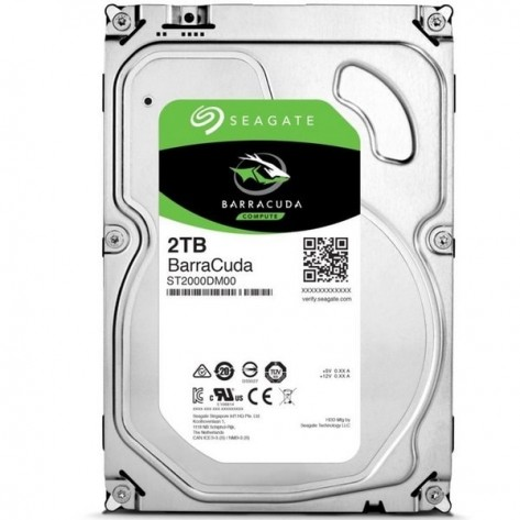 "HD 3.5"" 2TB Seagate BarraCuda ST2000DM008 - 7200RPM - 256MB Cache - SATA 6Gb/s"
