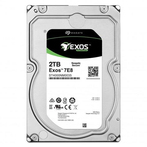 HD 3.5'' 2TB Seagate Exos Enterprise 7E8 ST2000NM0055 - 7200RPM - 128MB Cache - SATA 6Gb/s