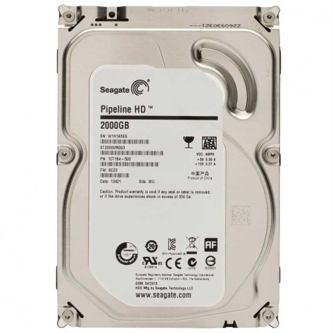 HD 2TB Seagate Pipeline Sata 3 - 64MB 5900RPM