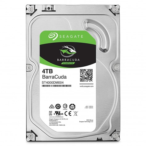HD 3.5'' 4TB Seagate BarraCuda ST4000DM004 - 5400RPM - 256MB Cache - SATA 6Gb/s