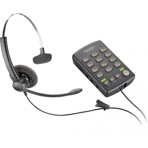 Telefone com Headset Monoauricular - Plantronics Practica T110