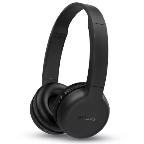 Fone de Ouvido Headphone Philips TAH1205BK/00 Bluetooth - Com Microfone - Preto