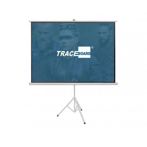 Tela de Projeção Tripé Traceboard TBTPS100V (2.03x1.52m)
