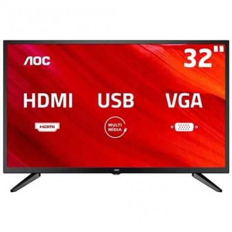 Televisor AOC 32'' - LE32M1475 - HD (1366 x 768) - Com conversor digital integrado - Hdmi e USB