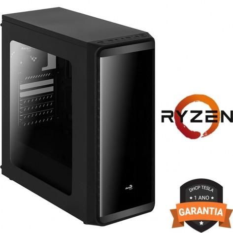 Computador DHCP Tesla Gamer - AMD Ryzen 5 1600 - 8GB DDR4 - 1TB HD - 500W - Sem gravador