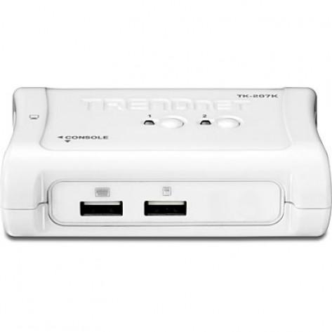 Chaveador TRENDnet KVM TK-207K TK-207K (v1.3R) - Via USB com 2 portas