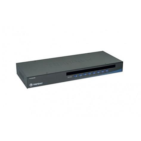Chaveador TRENDnet KVM TK-803R USB - 8 portas para Rack