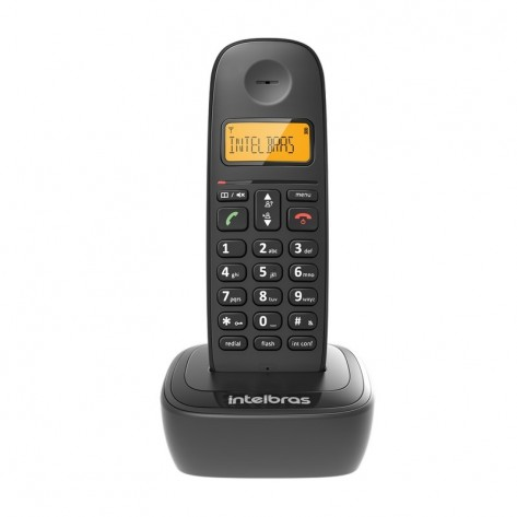 Telefone sem fio Intelbras TS2510 - Identificador Chamadas - Preto