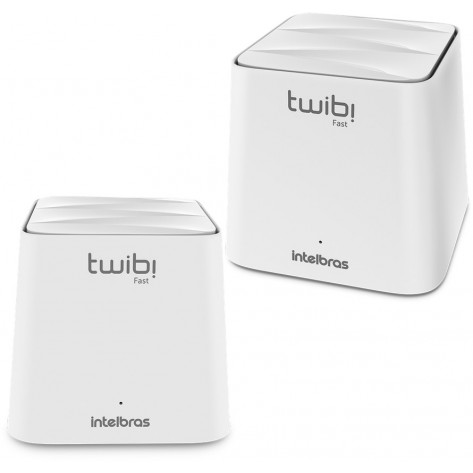 Conjunto Roteador wireless Mesh Intelbras Twibi Fast - 2 Unidades