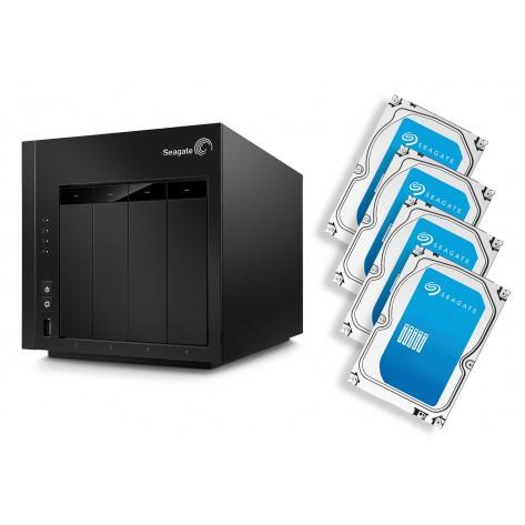 NAS Seagate STCU8000100 - 8TB (4x2TB) Rede Gigabit - USB 3.0