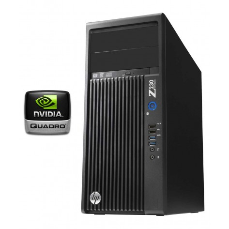 Workstation HP Z230 - Processador Intel® Xeon® E3-1225 v3 - 16GB RAM ECC - 2 x 500GB HD - Placa de Vídeo Quadro K2200 - Windows 8/7 PRO