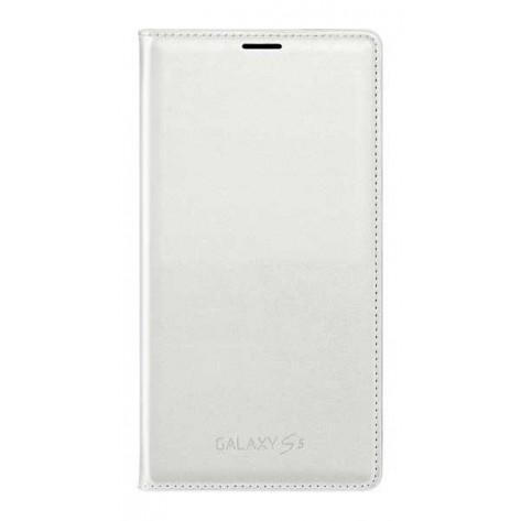 Capa Flip Wallet para Galaxy S5 - Branco