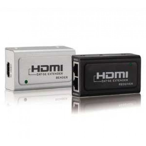 Extensor HDMI Full HD 1080p - Via cabo de rede Cat5 Cat6 - 60 Metros