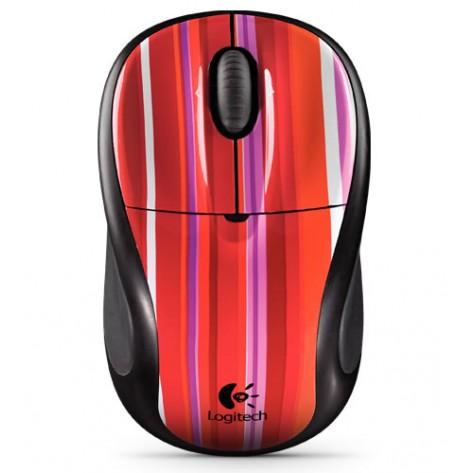 Mouse óptico Logitech V220 Cordless Optical para Notebook - Candy Strip