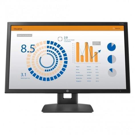 Monitor 23.6'' LED HP V24b 2XM34AA - 1920 x 1080, 60Hz, 5ms - Com suporte ergonômico