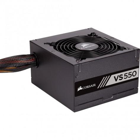 Fonte ATX 550W Corsair VS550 CP-9020171-WW - 80 Plus White - PFC Ativo