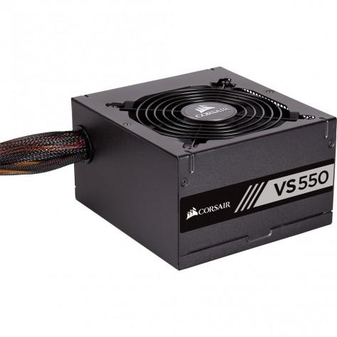 Fonte ATX 550W Corsair VS550 CP-9020171-BR - 80 Plus White - PFC Ativo