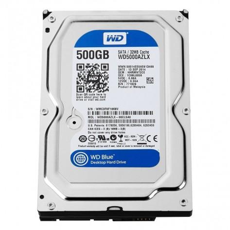 """HD 3.5"""" 500GB Western Digital Blue WD5000AZLX - 7200RPM - 32MB Cache - SATA 6Gb/s"""