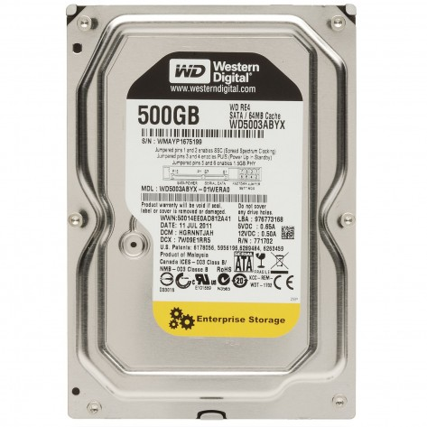 "Western Digital WD5003ABYX - 500GB 64MB Cache SATA 3.0Gb/s 3.5"" - 7200 RPM"