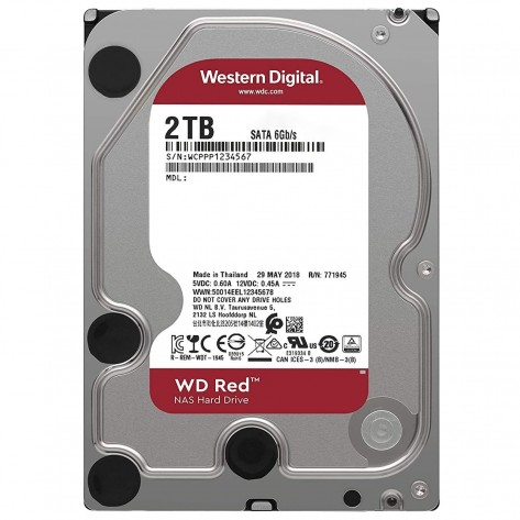 HD 3.5'' 2TB Western Digital Red WD20EFAX - 5400RPM - 256MB Cache - SATA 6Gb/s