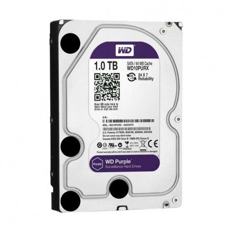 HD 1TB (1000GB) Western Digital WD10PURX Sata III - 64MB IntelliPower