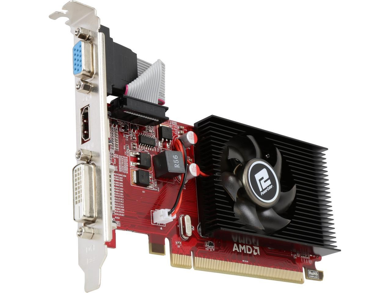 Placa de Vídeo PowerColor AMD Radeon R5 230 - 2GB DDR3 64bit - PCI Express  2 1