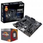Kit Upgrade - Processador AMD Ryzen 5 3600 Hexa-Core 3.6ghz (4.2ghz Turbo) + Placa Mãe Asus Prime A320M-K/BR