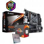 Kit Upgrade - Processador Amd Ryzen 7 3700x 3.6ghz (4.4ghz Turbo) / Placa Mãe Gigabyte B450 AORUS M
