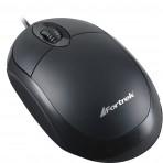 Mouse Fortrek OML-101 Preto com fio - 800 dpi - USB
