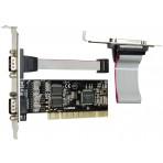 Placa Comtac PCI - 2 portas Seriais / 1 Paralela -  2SP PCI - 9017