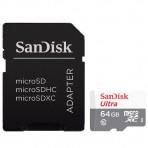 Cartão de memória SanDisk Ultra MicroSDHC com Adaptador SD - 64GB