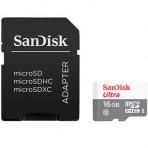 Cartão de memória SanDisk Ultra MicroSDHC com Adaptador SD - 16GB