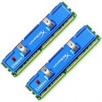Memória 1GB DDR2 Kingston HyperX KHX8500D2K2/1G - PC2-8500 (1066 MHz) - DIMM - Kit (2 x 512MB)