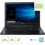 "Notebook Acer Aspire 3 A315-53-55DD - Intel Core i5-7200U - Tela 15.6"" HD - 4GB RAM - 1TB HD - Windows 10 Home"