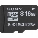 Cartão de memória MicroSDHC com Adaptador SD de 16GB Classe 4 - SR-16A4/BE1