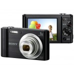 Câmera Digital Sony DSC-W800 - Preta - 20.1MP Visor 2.7'' Filma em HD
