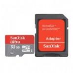 Cartão de memória SanDisk Ultra MicroSDHC com Adaptador SD - 32GB