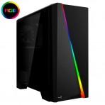 Gabinete Aerocool Gamer Cylon RGB LED - Preto - Sem fonte