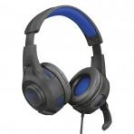 Fone de Ouvido Headset Gaming Trust GXT 307B Ravu - Com Microfone - Preto e Azul
