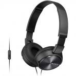 Fone de ouvido Supra-Auricular Sony MDR-ZX310AP - Com microfone - Preto