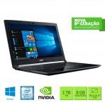 "Notebook Acer A515-51G-C690 - Intel® Core™ i7-8550U 8ºGeração - Tela 15.6"" FHD - 8GB RAM 1TB HD - GeForce® MX130 com 2 GB - Windows 10"