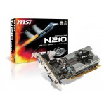 Placa de Vídeo MSI GeForce 210 - 1GB 64-bit GDDR3 - PCI Express 2.0 - Low Profile