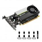 Placa de Vídeo PNY Quadro NVIDIA T1000 VCNT1000-PB - 4GB GDDR6 128 bits - PCI-Express 3.0
