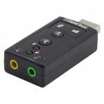 Adaptador de som 7.1 USB - exbom USON 10