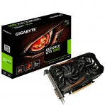Placa de Vídeo Gigabyte - GV-N1050OC-3GD - GeForce GTX 1050 WindForce 2x - 3GB GDDR5 96 bits - PCI-Express 3.0