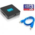Leitor de Cartão F3 271 (JC-LT3.0) - Universal Externo - 6 em 1 - USB 3.0